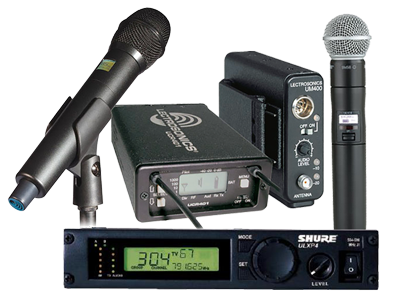 UHF Wireless Microphones San Francisco Bay Area