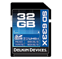 Delkin 32GB UHS-1 90MB/s SD Card