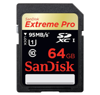 SanDisk 64GB Extreme SDXC 80MB/s SD Card